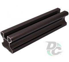 Vertical closed profile L-5,1m Black Wood DC OptimaLine