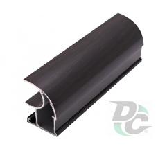 Vertical open profile L-4,7m Black Wood DC OptimaLine