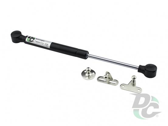 Gas spring for chipboard 40N convenient installation, 3 fasteners, black DC PremiumLine