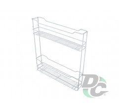 Drawer basket thermoplastic cover 150/2  White left / right DC
