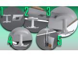 Round plastic kitchen hooks White