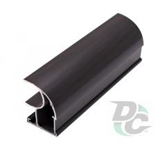 Vertical open profile L-5,1m Black Wood DC OptimaLine