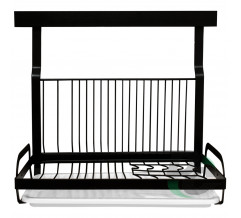 Kitchen rack for plates and cups Black