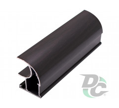 Vertical open profile  L-5,1m Black Wood DC StandardLine