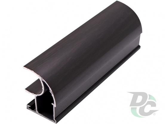 Vertical open profile  L-5,1m Black Wood DC StandardLine
