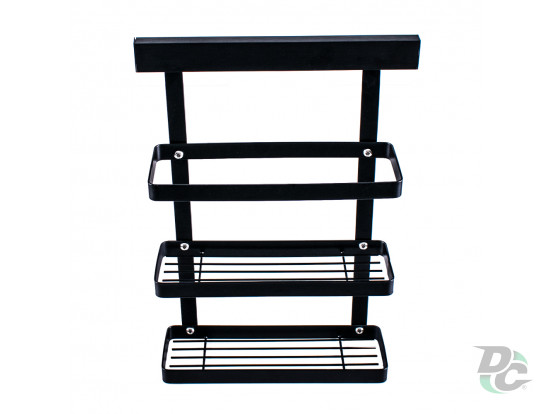 High kitchen doublerack for spices Black Kitchen doublerack for spices Black