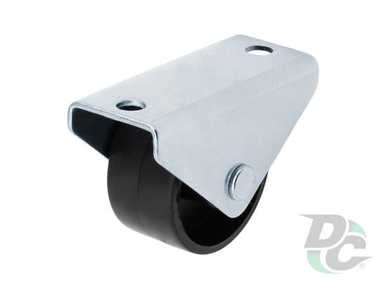 Plastic nonrotative castor H-32,5mm for seating furniture Black DC