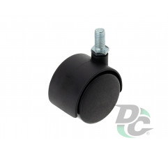 Plastic castor with pin D-40mm Black DC