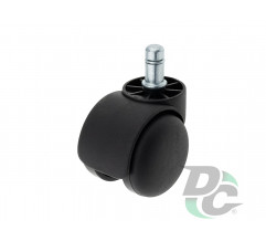 Rubber castor with plate D-50mm Black DC