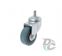 Rubber castor with pin D-50mm Grey DC