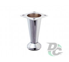 Adjustable furniture leg NL 30/80 G2 Chrome H-80mm conic DC