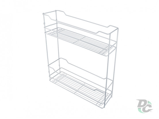 Drawer basket thermoplastic cover 200/2 White  left / right DC