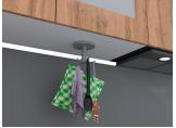Round plastic kitchen hooks Gray