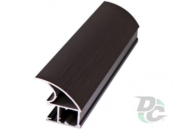 Vertical profile WAVE L-5,1m Black Wood DC StandardLine