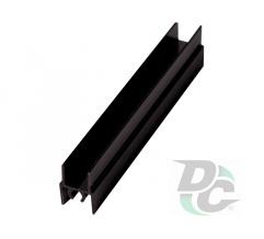 Upper horizontal profile L-5,5m Black Wood DC OptimaLine