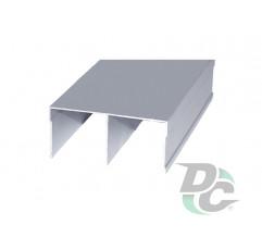Upper rail L-5,5m Silver DC OptimaLine