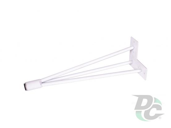 Conic hairpin table leg H-400 White DC StandardLine