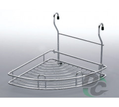 Small rail corner wire rack Chrome