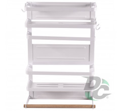 Magnetic Refrigerator Rack White