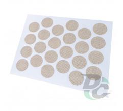 Confirmat screw self-adhesive cap textile beige 2732 (F416)