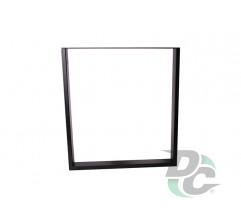 Square flat table leg  H-710 Black DC