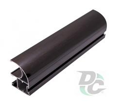 Vertical open profile with a slot L-5,1m Black Wood DC OptimaLine