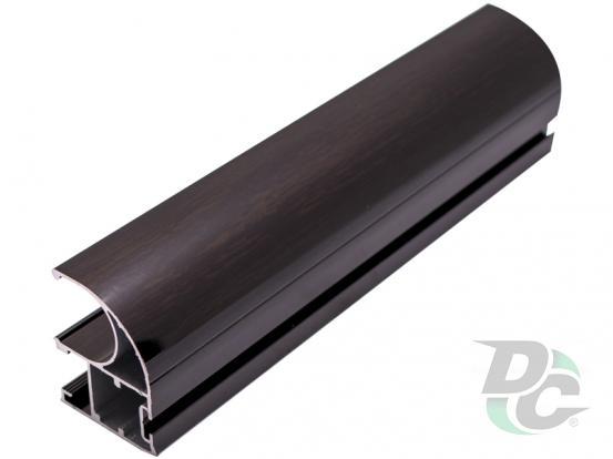 Vertical open profile  with slot L-5,1m Black Wood DC OptimaLine