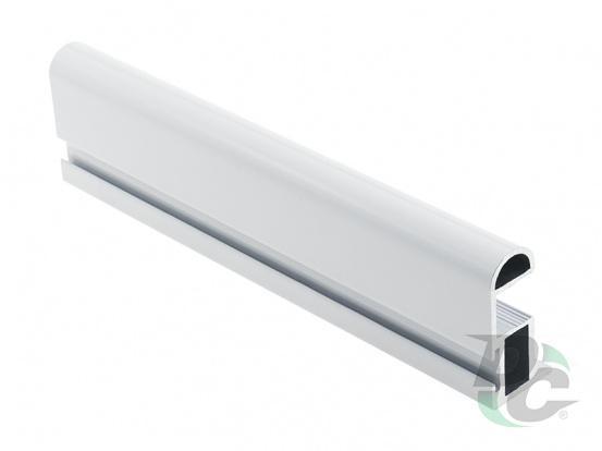 Modena S-shaped profile with channel L-5,1 m Gloss White DC ProfiLine