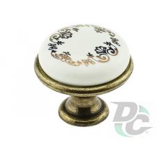 Furniture handle DC DG 193 G4 old bronze/MLK3 gold ornament (OL)