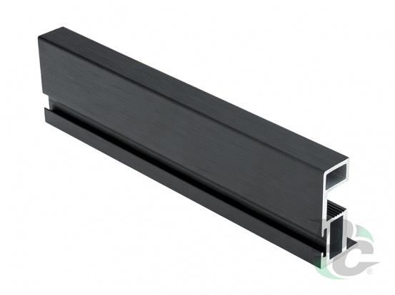 Bavaria vertical opened profie with channel L-5,1m Brush Black DC ProfiLine