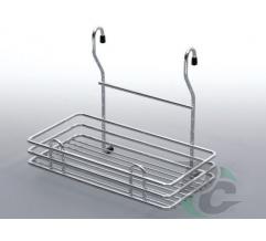 Rail single MINI wire rack Chrome