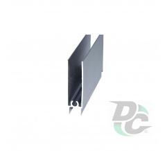 Down horizontal profile L-5,5m Silver DC OptimaLine