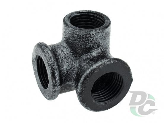 Corner mount for three pipes D-19mm Retro DC