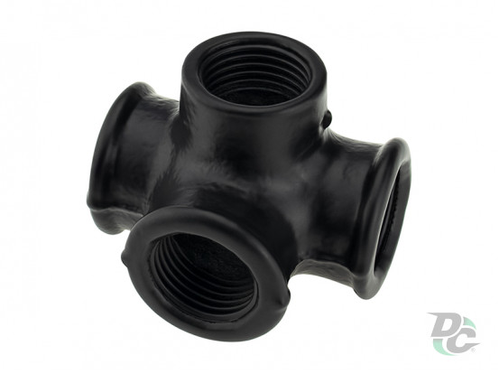 Intermediate mount  of four pipes D-19mm Black DC
