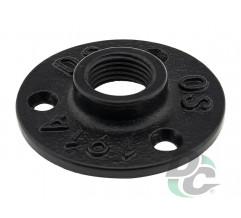 Flange for  pipe D-19mm Black DC