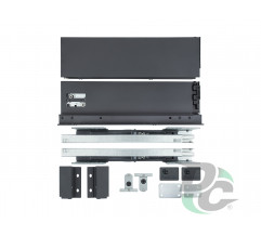 Tandembox SLIM L-350mm H-86mm for 18mm chipboard Graphite   DC PremiumLine