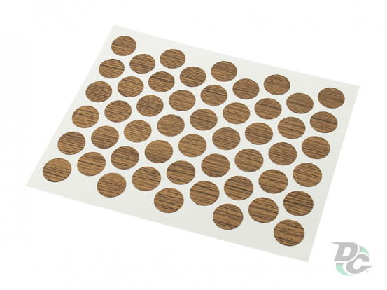 Confirmat screw self-adhesive cap Teak 3058