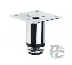 Adjustable furniture leg NL 05/60 G2 Chrome H-60mm D-30mm DC