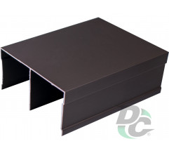 Upper rail L-5,5m Bronze DC OptimaLine