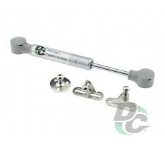Gas spring for chipboard 80N short 160mm, 3 fasteners, grey DC PremiumLine