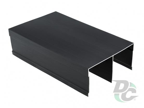 Bavaria/Modena fastened top slide L-5,5m Brush Black DC ProfiLine