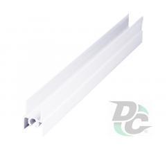Upper horizontal profile L-5,5m White Gloss DC OptimaLine