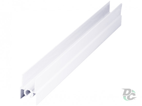 Upper horizontal profile L-5,5m White  Gloss DC OptimaLine