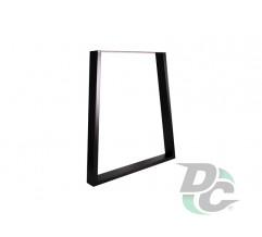Trapezoid stool H-400mm, W-350/300mm Black DC