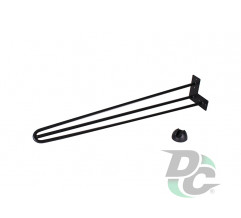 Hairpin table leg H-710 with protector feet Black DC StandardLine