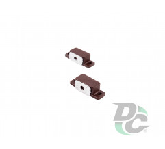 Small magnet with mounting bar Brown