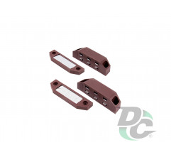 Big magnet with mounting bar Brown