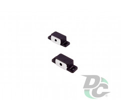 Small magnet with mounting bar Black