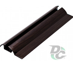 Down single rail L-5,5m Black Wood DC OptimaLine